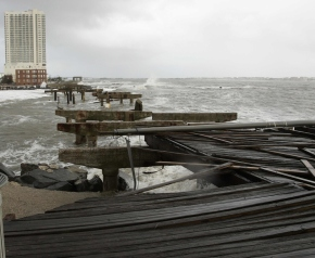 Hurricane sandy The iconic boardwalk was destroyed