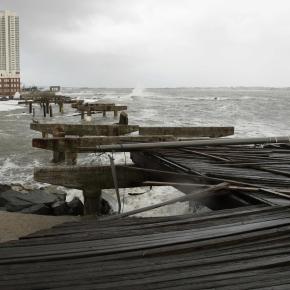 Hurricane sandy The iconic boardwalk wasdestroyed