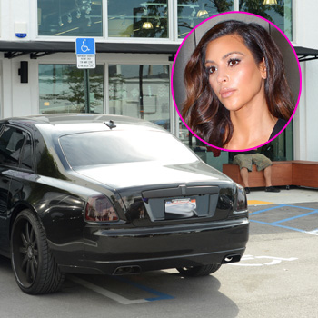 Kim Kardashian Parks Her Rolls Royce In A Handicap Parking Purplewig